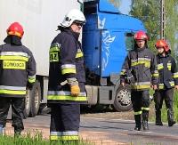 GMINA ZARSZYN: Zderzenie tira z busem w Nowosielcach. Droga już przejezdna (ZDJĘCIA)