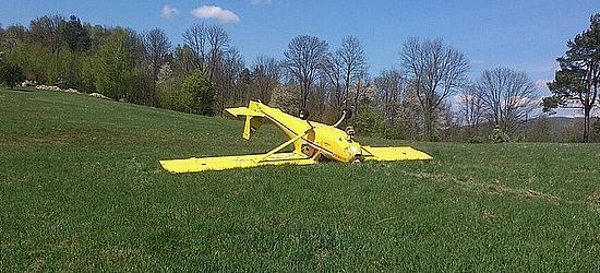 BIESZCZADY: Samolot wywrócił się podczas lądowania