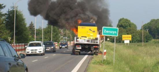 W Zarszynie paliła się ciężarówka (ZDJĘCIA)