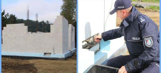 Wmurowano kamień węgielny pod nowy posterunek policji w Zagórzu (VIDEO, FOTO)