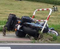 Motocyklista wjechał do rowu. Policja apeluje o rozwagę na drodze