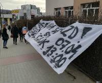 Kibice Stali Sanok mobilizują się na Polonię Przemyśl. Transparenty w kilku punktach w mieście (ZDJĘCIA)