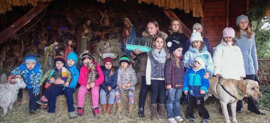 """TREPCZA: Młodzież zbudowała """"Szopkę po gwiazdami"""". Świąteczna radość dzieci (ZDJĘCIA)"""