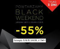 Powtarzamy Black Weekend! W 5.10.15 rabaty -55%