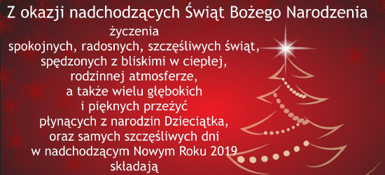Życzenia bożonarodzeniowe od wójta gminy Sanok i przewodniczącego Rady