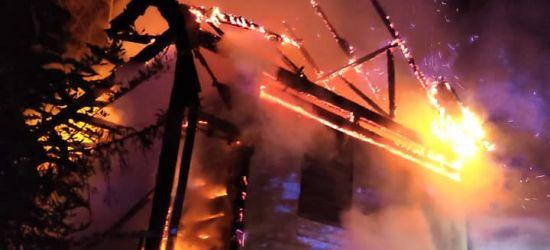 PODKARPACIE. Pożar domu. Budynek spłonął doszczętnie (ZDJĘCIA)