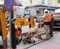 SANOK: Awaria sieci wodociągowej w centrum. Utrudnienia w ruchu mogą potrwać do 17:00 (ZDJĘCIA)
