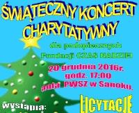 """DZISIAJ: Świąteczny Koncert Charytatywny. Zbieramy dla podopiecznych fundacji """"Czas Nadziei"""""""