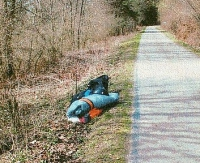 Zahaczył o drzewo a następnie spadł na ziemie. Ranny trafił do szpitala