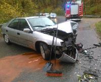 Wypadek w Międzybrodziu, jedna osoba trafiła do szpitala (ZDJĘCIA)