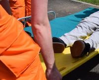 Potrącenie na ulicy Stróżowskiej w Sanoku. 11 latek w szpitalu