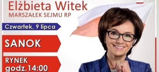 Marszałek Sejmu Elżbieta Witek w Sanoku