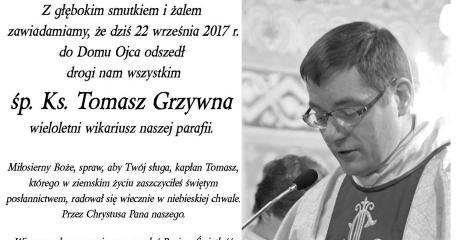 Zmarł ksiądz Tomasz Grzywna z sanockiej Fary