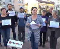 """Sanocki sygnał poparcia dla protestujących w Sejmie. """"Nie godzimy się na takie traktowanie niepełnosprawnych"""" (VIDEO)"""