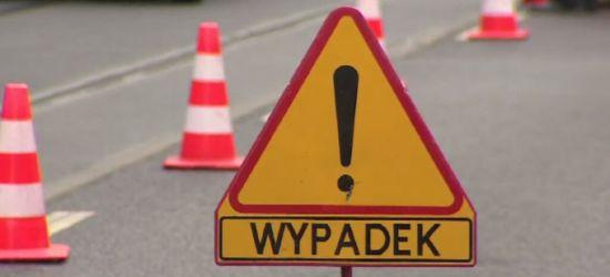 Wypadek w Jurowcach. Ranny młody motocyklista