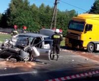 Zderzenie Tira z samochodem osobowym (VIDEO)