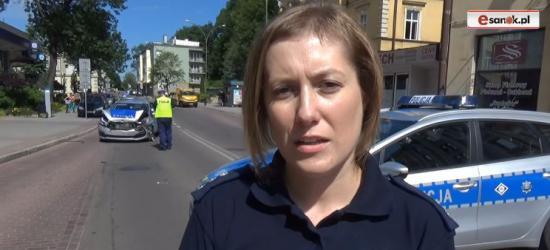 Rzecznik policji o przebiegu pościgu zakończonego stłuczką w centrum Sanoka (FILM, ZDJĘCIA)