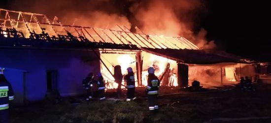 REGION: Potężny pożar. 8 godzin walki strażaków z żywiołem (ZDJĘCIA)