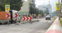 SANOK: Trwa budowa wysepki przy G3. Prace potrwają do końca sierpnia (ZDJĘCIA)