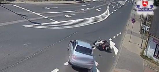 Pijany dziadek na skuterze spowodował wypadek i uciekł pozostawiając poszkodowanego wnuka (VIDEO)