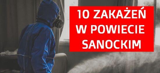 RAPORT: 10 zakażeń w powiecie sanockim!