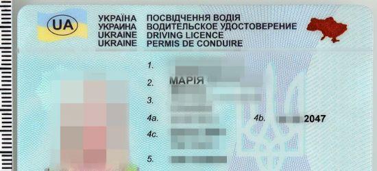 Uprawnienia do kierowania wszystkimi kategoriami pojazdów. Podróbki ukraińskich dokumentów
