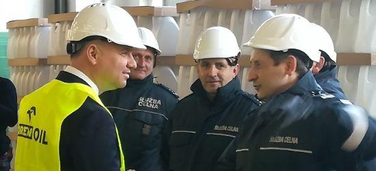 Prezydent w Jedliczu. Produkują tam płyn do dezynfekcji rąk