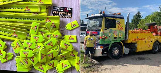Pomoc drogowa PILCH dla dzieci z Sanoka. Odblaski i rozmowy o bezpieczeństwie (ZDJĘCIA)