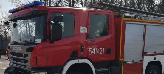 SANOK: Samochód przewrócony na bok na Dąbrówce