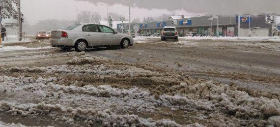 SANOK: Intensywne opady śniegu. Breja na ulicach i chodnikach! (VIDEO, FOTO)