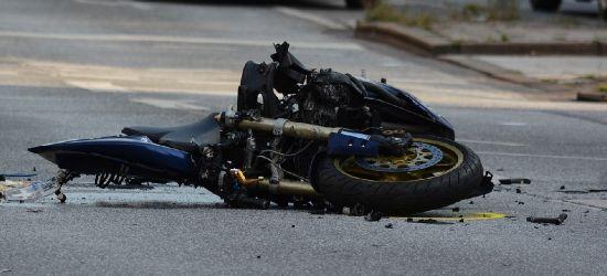 IZDEBKI. Śmiertelny wypadek. Zderzenie dwóch motocykli. Droga zablokowana!
