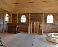 SKANSEN SANOK: Już jesienią turyści zwiedzą nowy, rekonstruowany obiekt. Zobacz wnętrze synagogi z Połańca! (ZDJĘCIA)