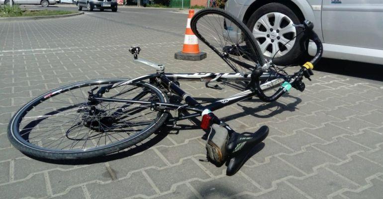 SANOK: Potrącenie rowerzysty. Kierowca jednośladu w szpitalu (FOTO)