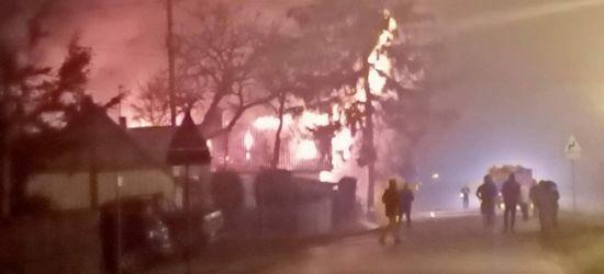 Pożar drewnianego domu w Mrzygłodzie! (ZDJĘCIE)