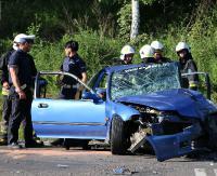 Wypadek na drodze Sanok-Zagórz. Trzy osoby w szpitalu (VIDEO, ZDJĘCIA)