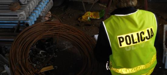 25-latek ukradł ponad 100 kg drutu wartego 2 tysiące