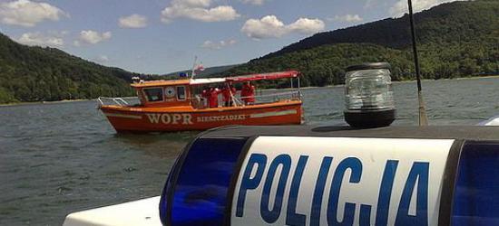 AKTUALIZACJA: Utonięcie w Jeziorze Solińskim. Nie żyje 22-latek