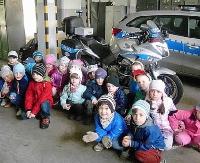 Przedszkolaki z wizytą w sanockiej komendzie (ZDJĘCIA)