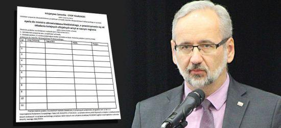 Nie chcą ministra Niedzielskiego na Podkarpaciu. Zbierają podpisy! (VIDEO)