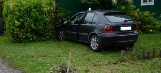 Samochodem wjechał w dom. Ranny kierowca osobówki (FOTO)