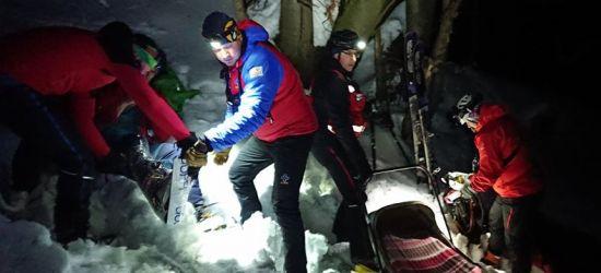 Wypadek narciarza na Połoninie Wetlińskiej (ZDJĘCIA)