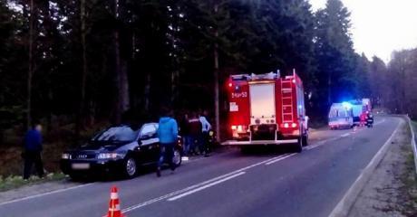 GMINA ZAGÓRZ: Dachowanie w rowie. Dwie osoby trafiły do szpitala (ZDJĘCIA)
