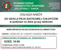 TSV Sanok: Nabór do sekcji piłki siatkowej chłopców