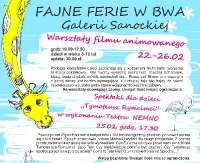 Fajne Ferie w BWA. Zobacz program