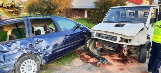BLIZNE: Volkswagen zderzył się z iveco. Wśród pasażerów dwójka dzieci (ZDJĘCIA)