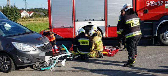 Potrącenie rowerzystki. 11-latka wjechała wprost pod koła osobówki