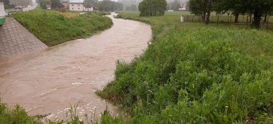 Na mniejszych rzekach gwałtowne wzrosty poziomu wody. Możliwe podtopienia.