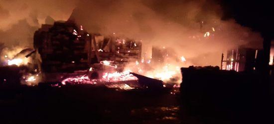 MANASTERZEC: Pożar w ośrodku wypoczynkowym. Budynek spłonął doszczętnie (ZDJĘCIA)