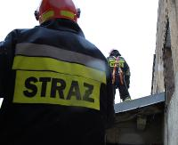 SANOK: Pożar w budynku mieszkalnym. Prawdopodobnie doszło do zwarcia instalacji elektrycznej