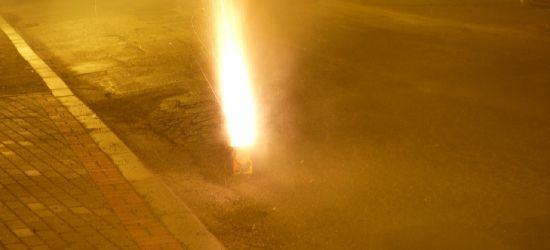 ZAGÓRZ: Nieumiejętnie odpalone race. Pożar gotowy